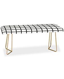 Little Arrow Design Co Monochrome Grid Bench