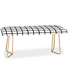 Deny Designs Little Arrow Design Co Monochrome Grid Bench