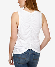 Lucky Brand Cotton Ruched Tank Top