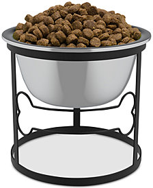 Stainless Steel Elevated Pet Bowl with Stand for Dogs and Cats
