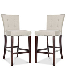 Oston Bar Stool (Set Of 2), Quick Ship