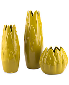 Zuo Arti Lemon Yellow Vase Collection