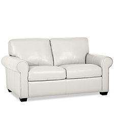 "Orid 59"" Leather Loveseat, Created for Macy's"