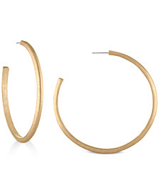 "RACHEL Rachel Roy Gold-Tone 2-1/2"" Open Hoop Earrings"