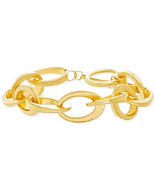 Gold-Tone Interlocking Link Bracelet