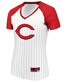 Majestic Women's Cincinnati Reds Every Aspect Pinstripe T-Shirt