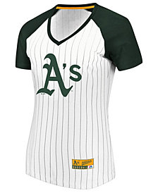 Majestic Women's Oakland Athletics Every Aspect Pinstripe T-Shirt