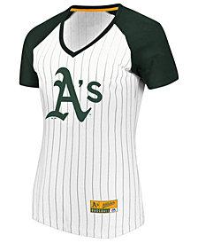 Majestic Women's Oakland Athletics Every Aspect Pinstripe T-Shirt