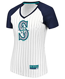 Majestic Women's Seattle Mariners Every Aspect Pinstripe T-Shirt