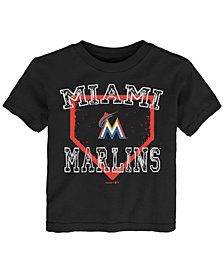 Outerstuff Miami Marlins Fan Base T-Shirt, Toddler Boys (2T-4T)