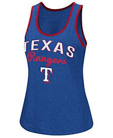 G-III Sports Women's Texas Rangers Power Punch Glitter Tank