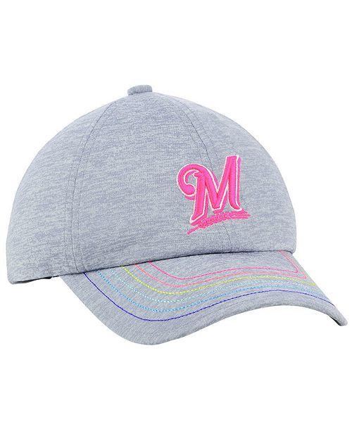 37a276311d8 Under Armour Girls  Milwaukee Brewers Renegade Twist Cap - Sports ...