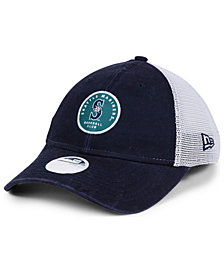 New Era Women's Seattle Mariners Washed Trucker 9TWENTY Cap