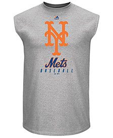 Majestic Men's New York Mets Fundamental Sleeveless T-Shirt