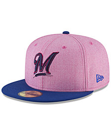 New Era Milwaukee Brewers Mothers Day 59Fifty Fitted Cap