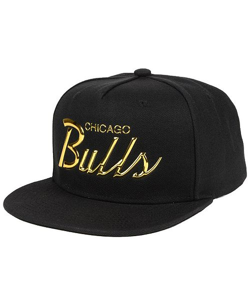 various colors ccf38 c10b2 ... Snapback Cap  Mitchell   Ness Chicago Bulls Metallic Tempered Snapback  ...