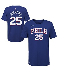 Nike Ben Simmons Philadelphia 76ers Icon Name and Number T-Shirt, Big Boys (8-20)