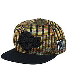 Mitchell & Ness Los Angeles Lakers Black Flag Snapback Cap