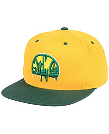 Mitchell & Ness Seattle SuperSonics Dripped Snapback Cap