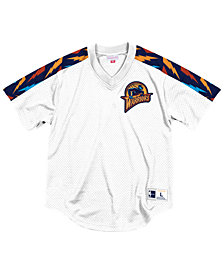 Mitchell & Ness Men's Golden State Warriors Winning Team Mesh V-Neck Jersey