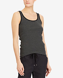 Lauren Ralph Lauren Ribbed Stretch Tank Top