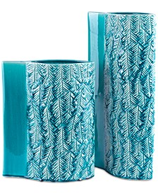 Liso Teal Vase Collection