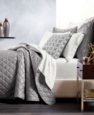 CLOSEOUT! Silk Quilted Full/Queen Coverlet, Created for Macy's