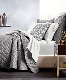 Hotel Collection Silk Quilted Full/Queen Coverlet, Created for Macy's