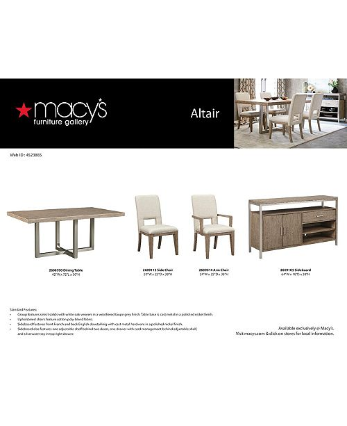 Furniture Closeout Altair Dining Furniture Collection