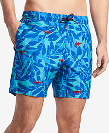 "Tommy Hilfiger Men's Goblin Printed 6.5"" Swim Trunks, Created for Macy's"
