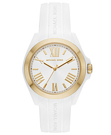 Michael Kors Women's Bradshaw White Silicone Strap Watch 38mm
