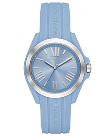 Michael Kors Women's Bradshaw Pale Blue Silicone Strap Watch 38mm