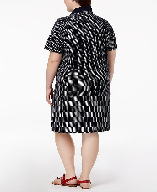 Tommy Hilfiger Plus Size Printed Polo Shirtdress Created For Macys