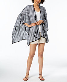 Calvin Klein Striped Sporty Shawl