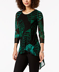 Alfani Printed High-Low Hem Top, Created for Macy's