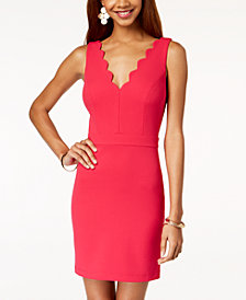 City Studios Juniors' Scalloped Bodycon Dress