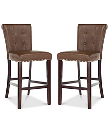 Oston Faux Leather Bar Stool (Set Of 2), Quick Ship