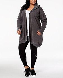 Ideology Plus Size Hooded Wrap, Created for Macy's