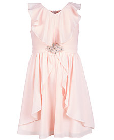 Us Angels Big Girls Ruffle-Trim Chiffon Dress