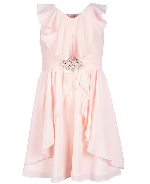 f05c028c0bf12 Us Angels Big Girls Ruffle-Trim Chiffon Dress   Reviews - Dresses ...