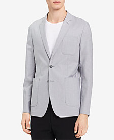 Calvin Klein Men's Two-Button Chambray Blazer
