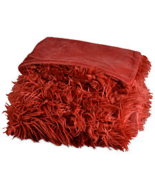 "Berkshire Mongolian Reversible 50"" x 70"" Faux-Fur Throw"