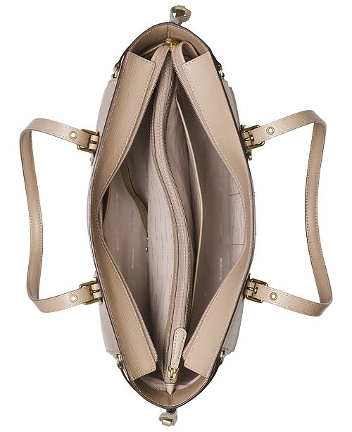 4542705a34f0 Michael Kors Voyager Medium Crossgrain Leather Tote   Reviews ...