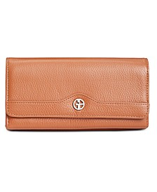 Pebble Leather Receipt Wallet, Created for Macy's
