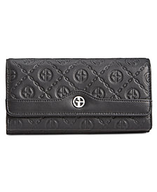 Giani Bernini Logo Embossed Receipt Wallet, Created for Macy's