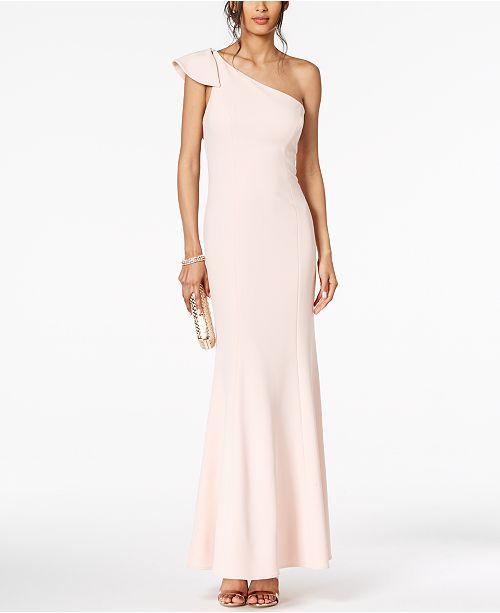 Vince Camuto Ruffled One-Shoulder Gown - Dresses - Women - Macy s ef1b9e7e0a
