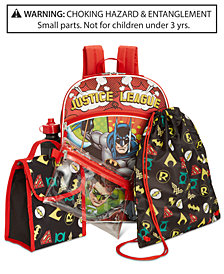 DC Comics Little & Big Boys 5-Pc. Justice League Backpack & Accessories Set