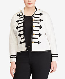 Lauren Ralph Lauren Plus Size Embossed Jacket