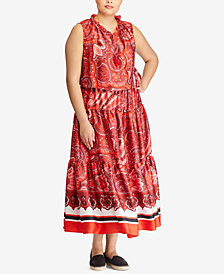 Lauren Ralph Lauren Plus Size Twill Maxidress