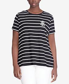 Lauren Ralph Lauren Plus Size Logo Monogram T-Shirt